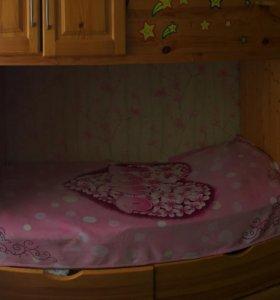 Стенка детская с двумя кроватями