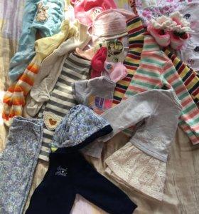 Пакет вещей от 6-12 месяцев на девочку