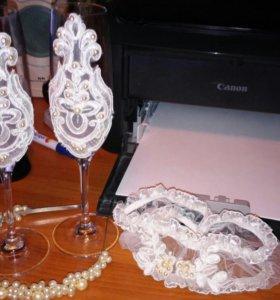 Набор свадебных фужеров