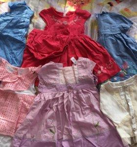 Платья на девочку с 6-12 месяцев