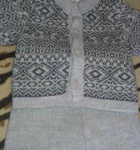 Шерстяные штанишки и кофта 62 размер