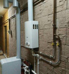 Монтаж отопления, водоснабжения под ключ