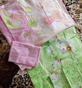 Постельное белье для детской кроватки 2 комплекта