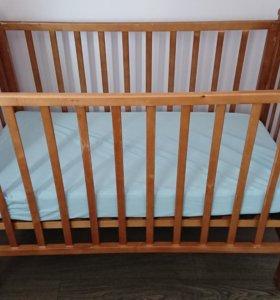 Детская кровать и матрас детский ВИССА