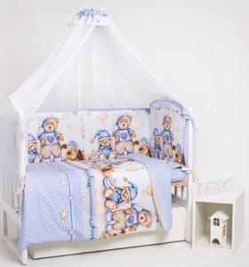 Набор в детскую кроватку 7 пр. Нежный сон. Новый