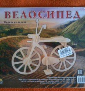 Сборная деревянная модель велосипед