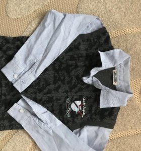 Рубашка- жилетка, 2 в одном