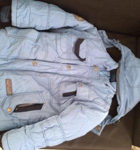 Куртка и штаны зимние , полукомбинезон, размер 134