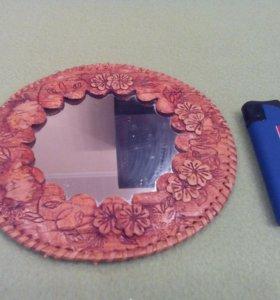 Зеркальце в берестяной окантовке