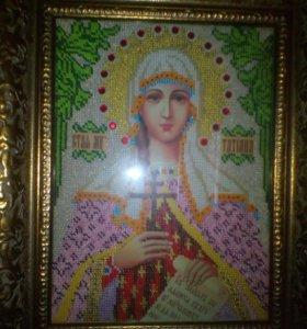 Икона из бисера Святая Татьяна