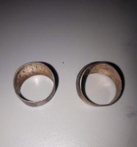Кольца серебряные старинные
