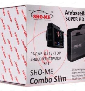 Видеорегистратор с антирадаром SHO-ME COMBO SLIM