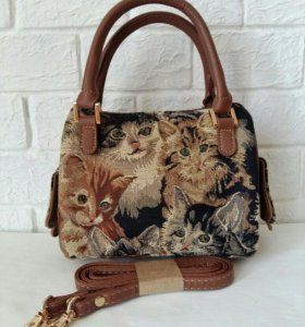 Гобеленовая сумка Signare in Cat Design