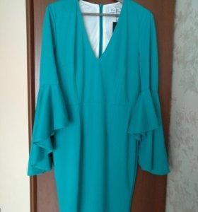 Платье бирюзовое