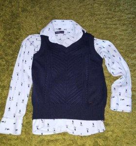Рубашка и жилетка 5 лет(116)