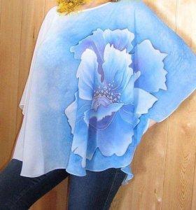 Невесомая шифоновая блузка для жары