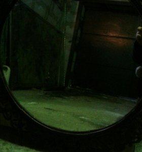 Зеркало круглое без рамы