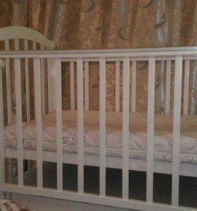 детская кроватка с Матрасом Плитекс EkoLife