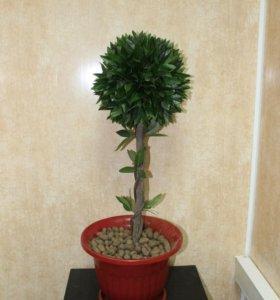Искусственное декоративное растение куст в горшке