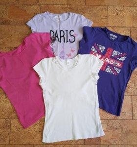 4 футболки на 10-12 лет
