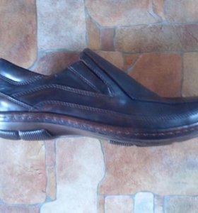 Туфли мужские демисезонные тёмно-коричневые