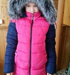 Зимняя куртка. Мех натуральный