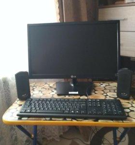 Монитор LG, клавиатура,колонки,все новое не пользо