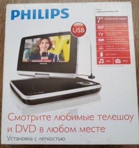 Портативный телевизор с DVD плеером