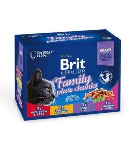 Влажный корм Brit Premium Ассорти «Семейное»