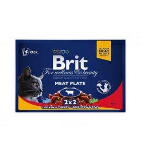 Влажный корм Brit Premium Cat Pouches 100 гр*4 шт