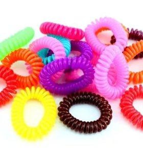 Набор резинок-спиралек (6 штук в упаковке)