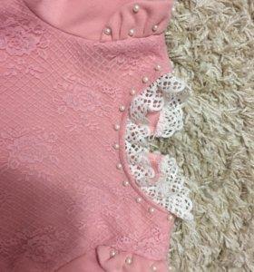 Детская блузка внутри плюш