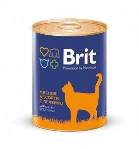 Консервы Brit Premium для взрослых кошек 340 гр