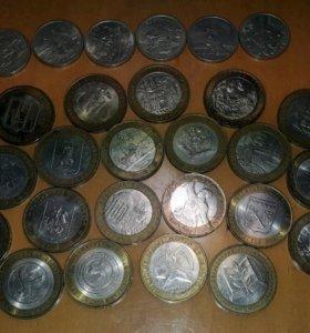 Коллекция юбилейных 10 и 2 рублевых монет