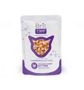 Влажный корм Brit Care Kitten для котят 80гр*24шт