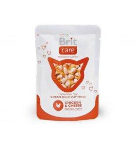 Влажный корм Brit Care Cat для кошек 80гр*24 шт