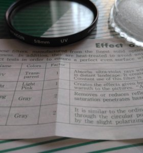 UV Фильтр Vitacon d58