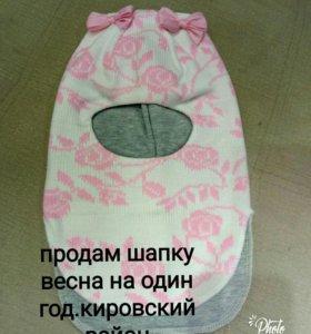 детские шапочки на весну