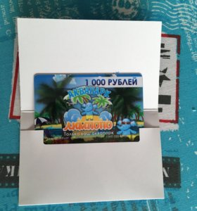 Сертификат в аквапарк на 1000