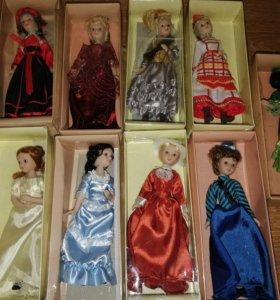 Куколки фарфоровые 9 штук новые