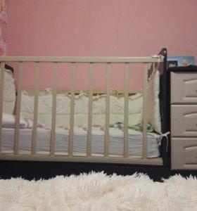 Детская кроватка-трасформер