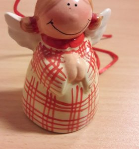 Колокольчик керамика Ангел