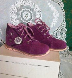 Новые ботинки для маленькой леди 21р