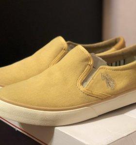 Обувь женская слипоны 37 р-р новые