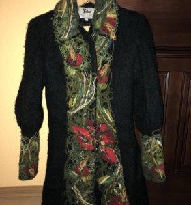 Пальто (шерсть) ручной работы