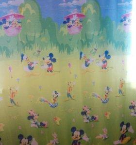 Тюль для детской Микки Маус