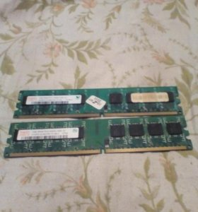 DDR2 1Gb + 1Gb (Intel)