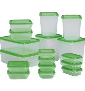 Набор пластиковых контейнеров IKEA