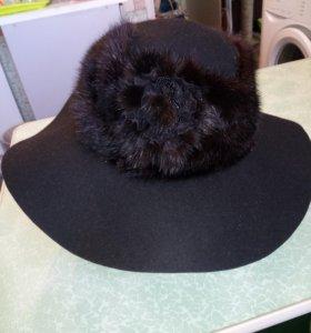 Шляпа женская. Фетр, норка