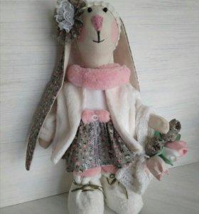 Игрушка заяц ручной работы